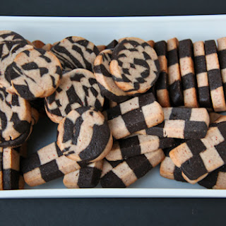 Strawberry Black Pepper Chocolate Checkerboard Cookies.