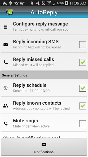 Auto Sms Calls Reply