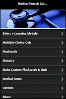 Screenshot of Medical French Guide & Quiz
