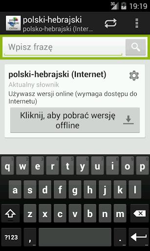 Polish-Hebrew Dictionary