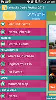 Screenshot of Kentucky Derby Festival