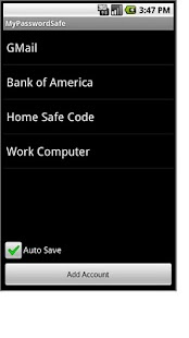 MyPasswordSafe - screenshot thumbnail