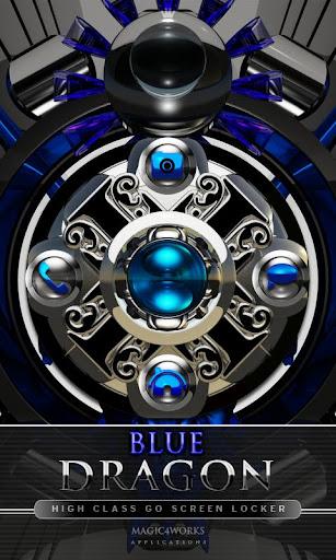 GO Locker Theme Blue Dragon