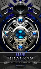 3D blue dragon GO Locker Android Personalization