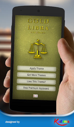 Gold Libra Keyboard