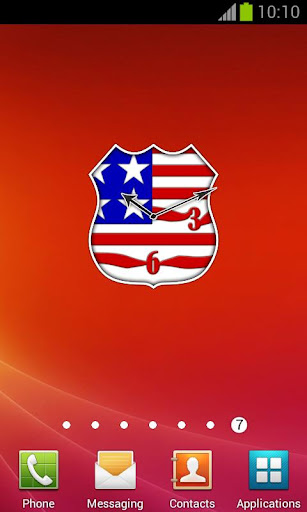 USA Flag Badge Clock + alarm
