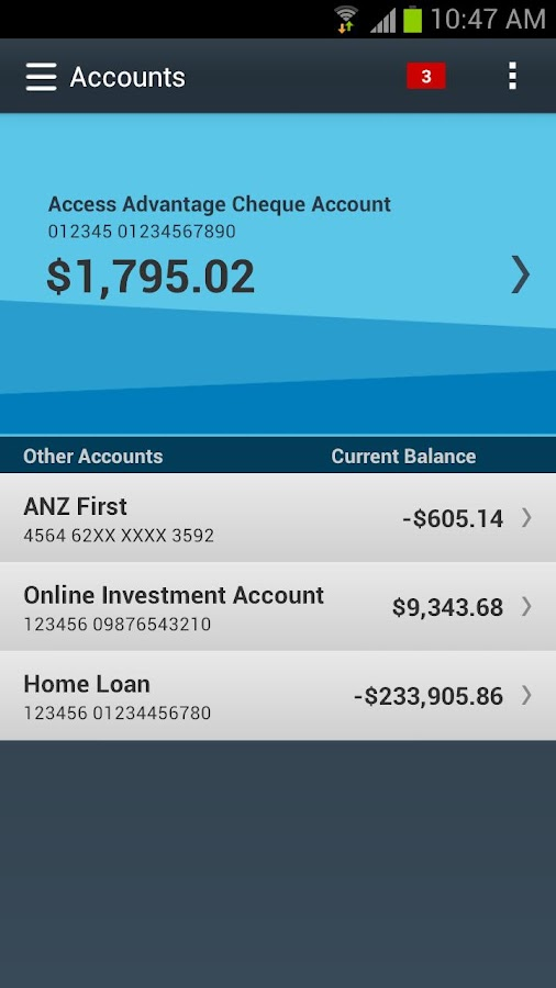 ANZ goMoney™ - screenshot