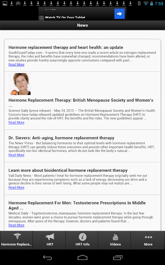Hormone Replacement Therapy- screenshot
