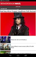 Screenshot of Birmingham Mail