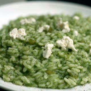 Spinach Risotto with Goat Cheese