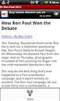 Screenshot of Dr Ron Paul 2012