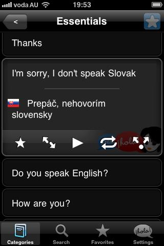 Lingopal Slovak Lite - screenshot
