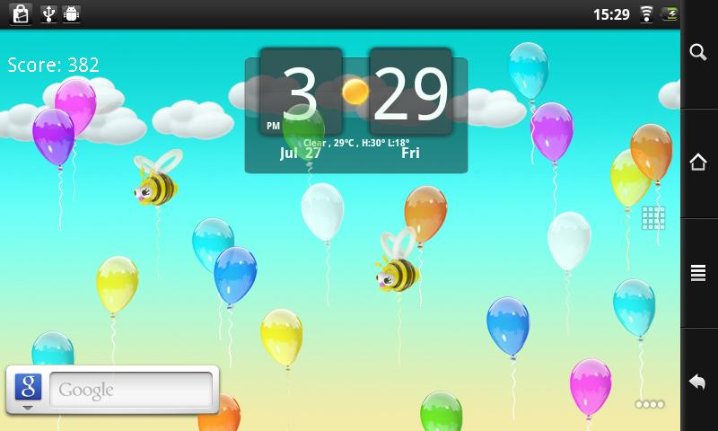 Balloons Live Wallpaper - screenshot