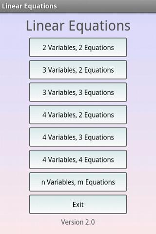 Linear Equations Pro - screenshot