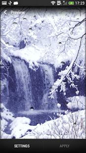 Sněžení Živá Tapeta - náhled