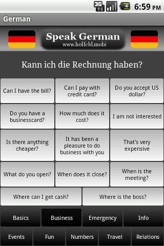 Speak German - screenshot