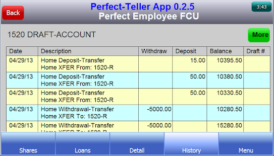 Perfect Teller - ptApp - screenshot thumbnail