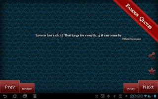 Screenshot of Famous Quotes