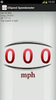 Screenshot of DSpeed GPS Speedometer in MPH