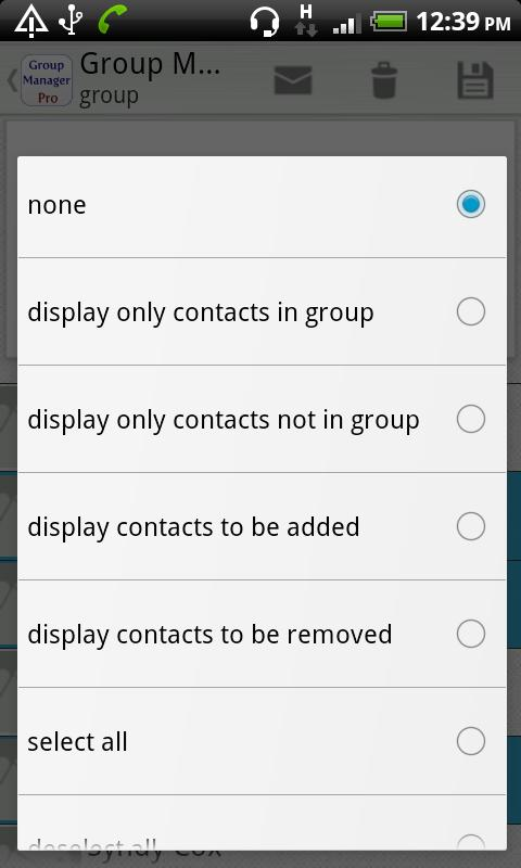 Group Contact  Manager - screenshot