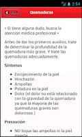 Screenshot of Primeros Auxilios