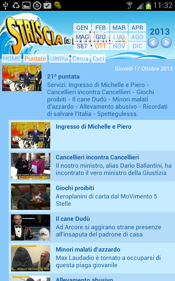 Striscia la APP- screenshot
