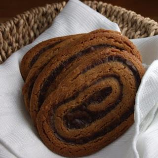 Chocolate- Swirled Peanut Butter Cookies.