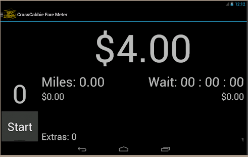 CrossCabbie Fare Meter- screenshot thumbnail