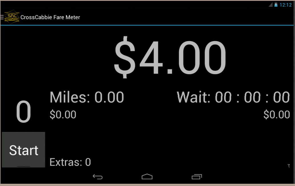 CrossCabbie Fare Meter- screenshot