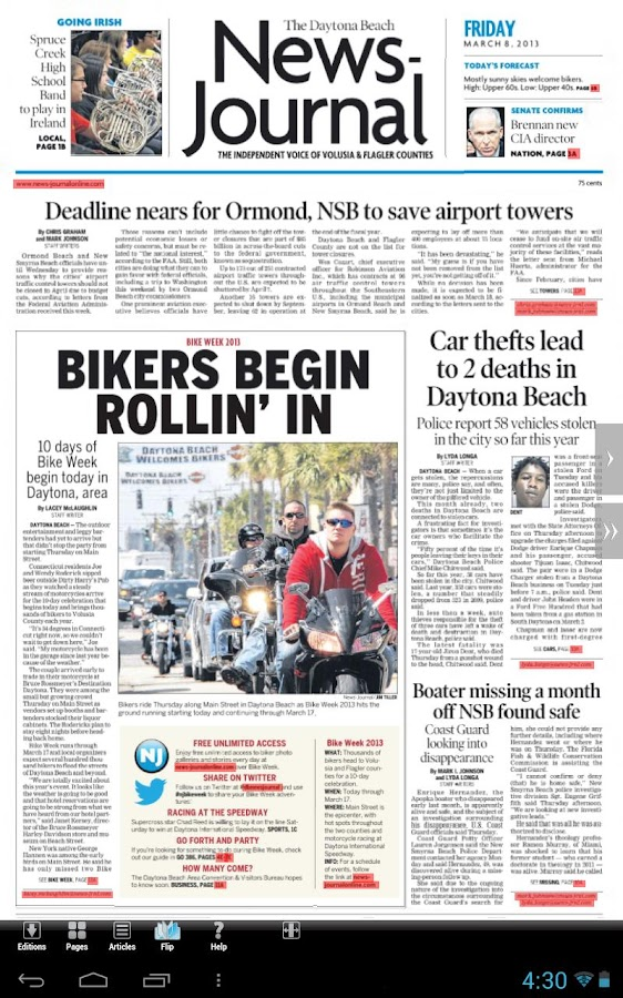 Daytona Beach News-Journal - screenshot