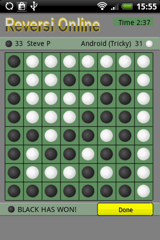 Screenshots for Reversi Online