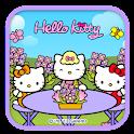 Hello Kitty Flower mom Theme icon