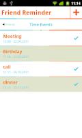 Screenshot of Friend Reminder