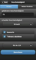 Screenshot of Bußgeldrechner + Katalog 2012