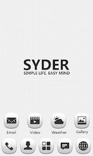 Syder GO Launcher EX Theme - screenshot thumbnail