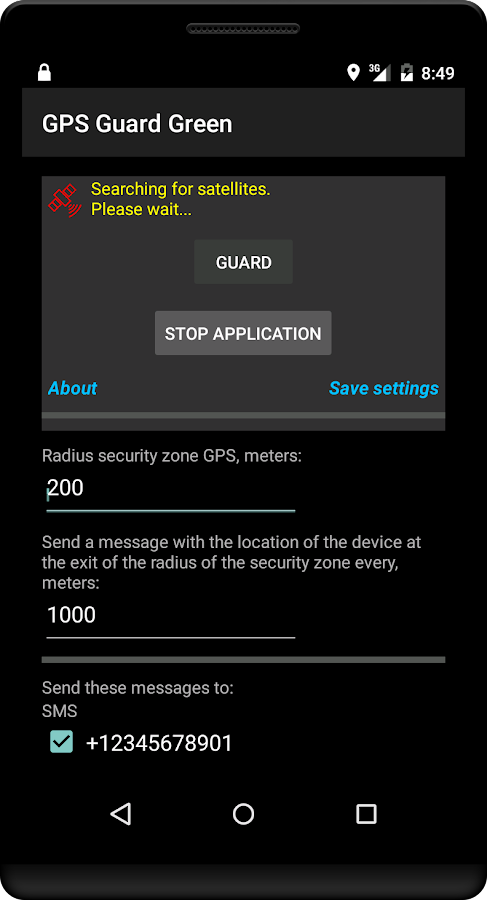 GPS Guard Green- screenshot