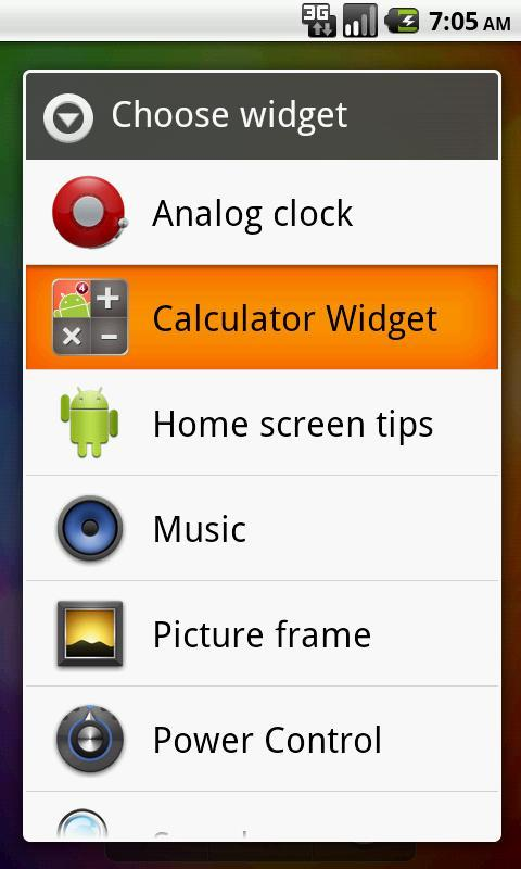 Calculator Widget Lite - screenshot