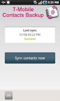 Screenshot of T-Mobile Contacts