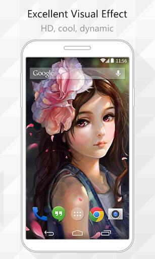 Quiet Girl Live Wallpaper