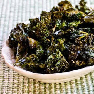Roasted Kale Chips with Sea Salt and Vinegar.