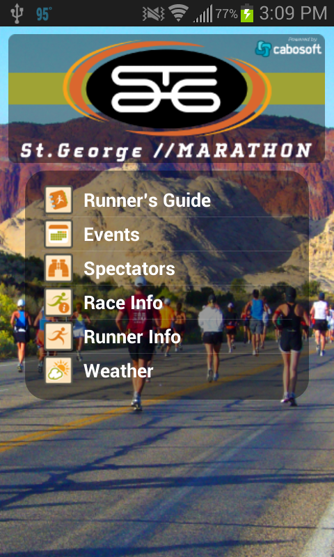 St. George Marathon - screenshot