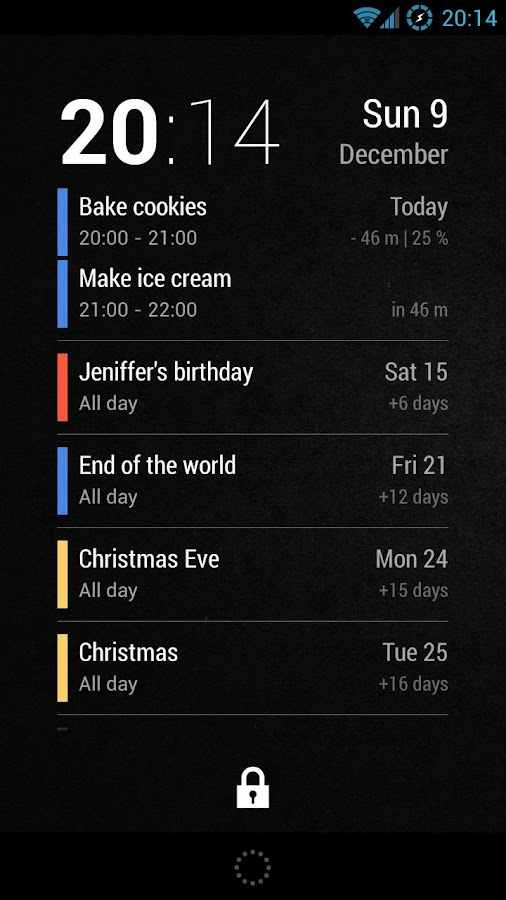 Neat Calendar Widget - screenshot