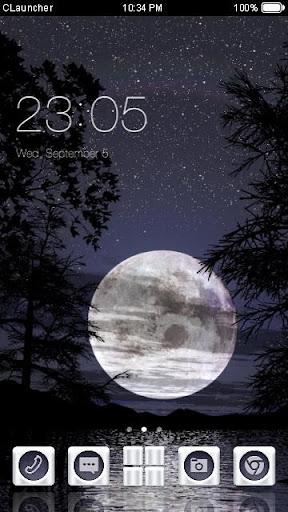 '月亮'手机主题——畅游桌面