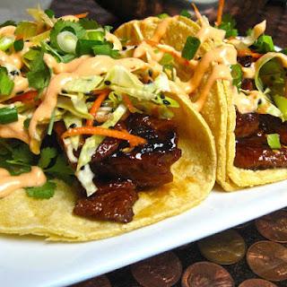 Teriyaki Seitan Asada Tacos