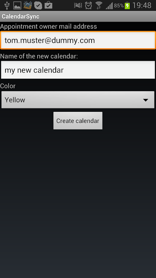 CalendarSync - CalDAV and more - screenshot