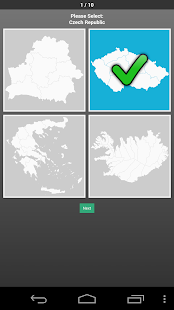 Europe Country Map Shape Quiz- screenshot thumbnail
