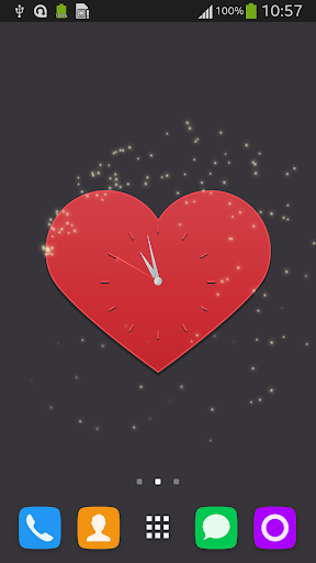 Red Heart Clock
