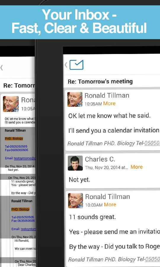 Email for Exchange & Hotmail + - screenshot