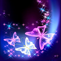 Sparkling Butterfly Live Wallp icon