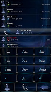 Dialer GlassBlue Metal theme- screenshot thumbnail